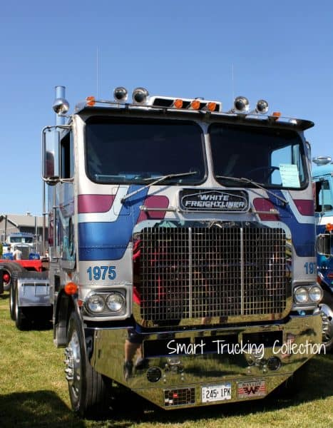 White Freightliner Cabover Truck