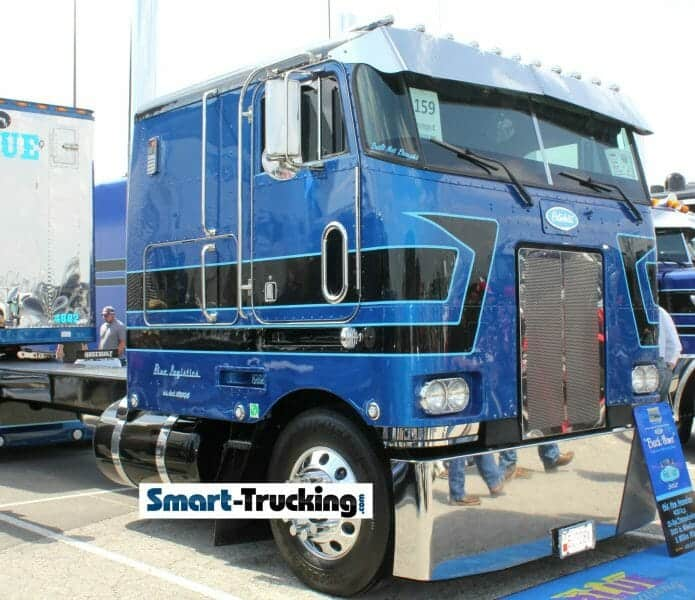 1982 Peterbilt 362 Cabover Blue Black