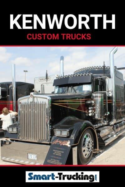 KENWORTH SHOW TRUCK BLACK RED CUSTOM
