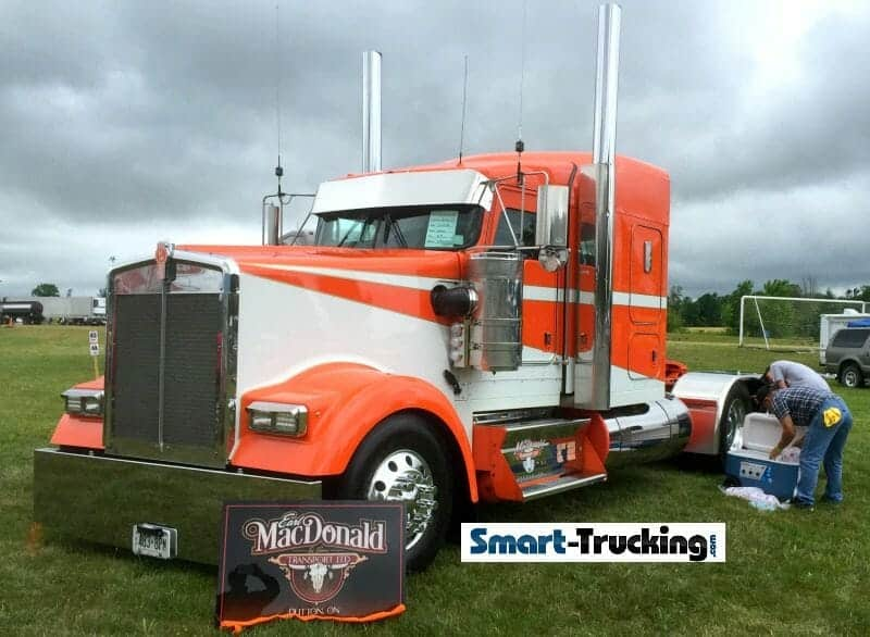 Kenworth Show Truck Orange White