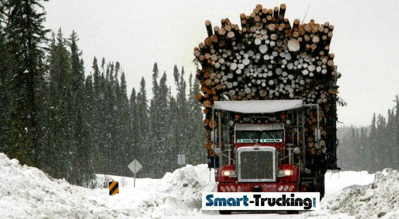 Red Peterbilt Logging Truck 169000 LB