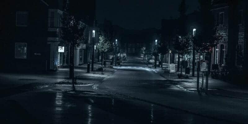 Dark gloomy streets