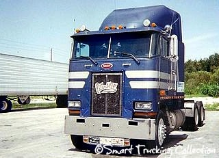 Old Peterbilt Cabover Blue
