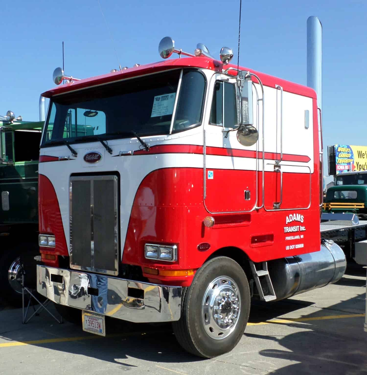 Peterbilt Cabover Truck Red White