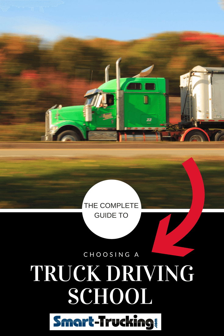 Green semi truck speeding on a highway