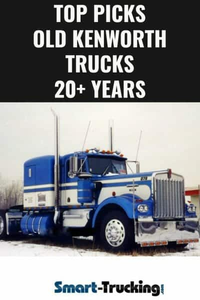 1979 Blue and White Old Kenworth Truck