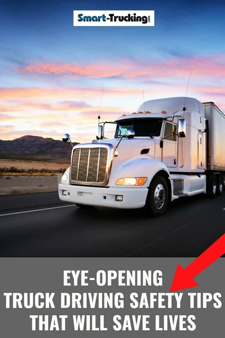 Eye-Opening Truck Driving Safety Tips That Will Save Lives.  A professional truck driver has the difficult task of keeping an eye on all things going on around his truck, on the road & other vehicles, to name a few. Learn what the CDL trucker should be watching when behind the wheel, in order to avoid an accident. #trucker #CDL #truckdriver #trucking #CDLtips #truckertips #truckingtips #truckdriving