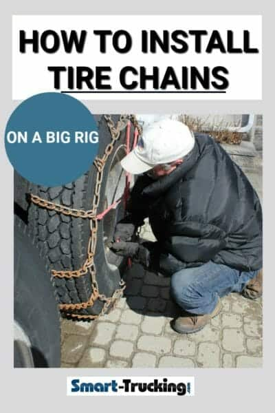 HOW TO INSTALL TIRE CHAINS ON A BIG RIG