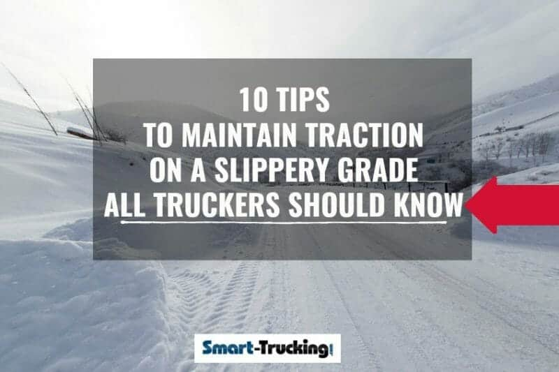 Maintain Traction Tips For Truck Drivers