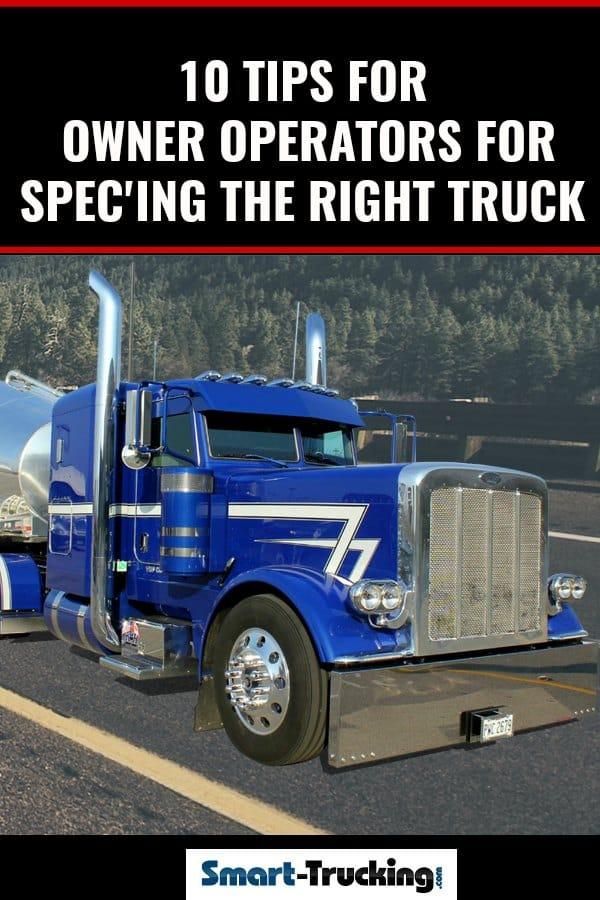 Big Blue Custom Semi Truck