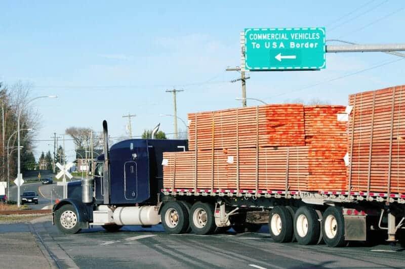 Truck crossing border needing TWIC card