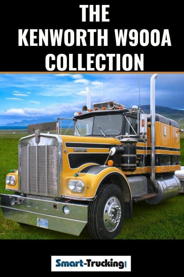 Gold Kenworth W900A Classic Big Rig