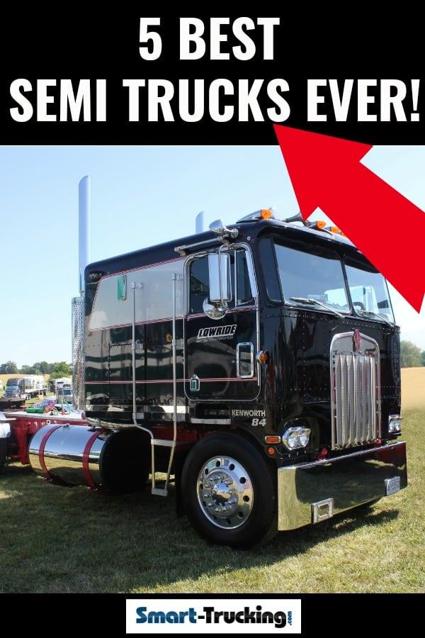 1984 Black Cabover Truck