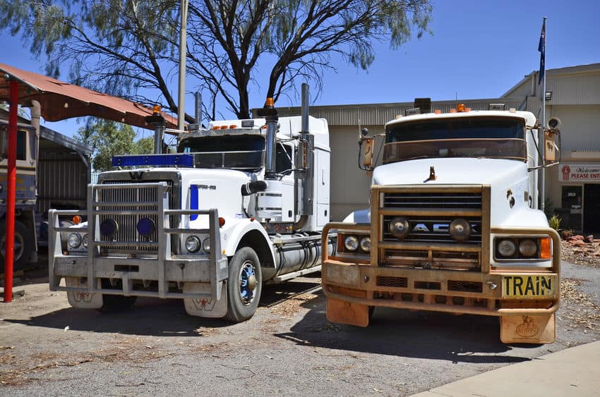 Alice Springs, NT, Australia Different trucks in The Ghan Museum, located outside of the town in Northern Territory