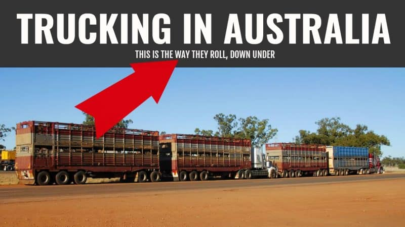 Australian Road Trains on a Dirt Road