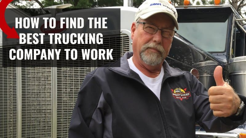 Best Trucking Company to Work