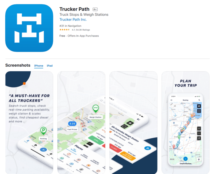 Trucker Path App for the Truck Driver