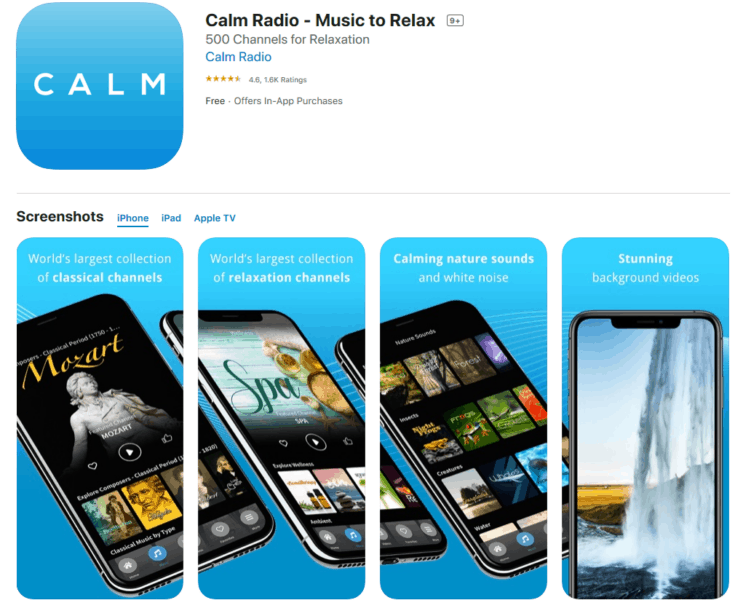 Calm Radio App - Good App For Destressing for Truckers
