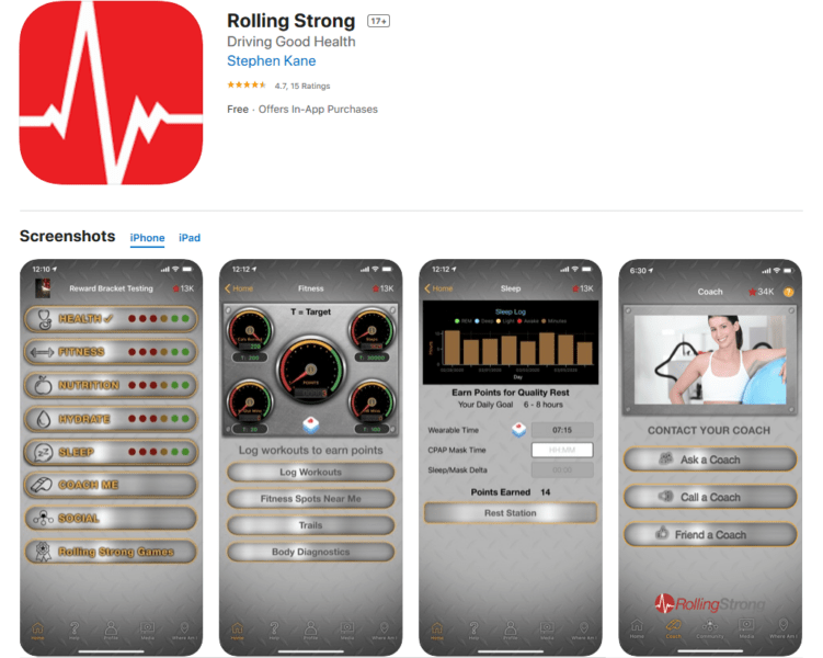 Rolling Strong App - Good App for Fitness For Truckers
